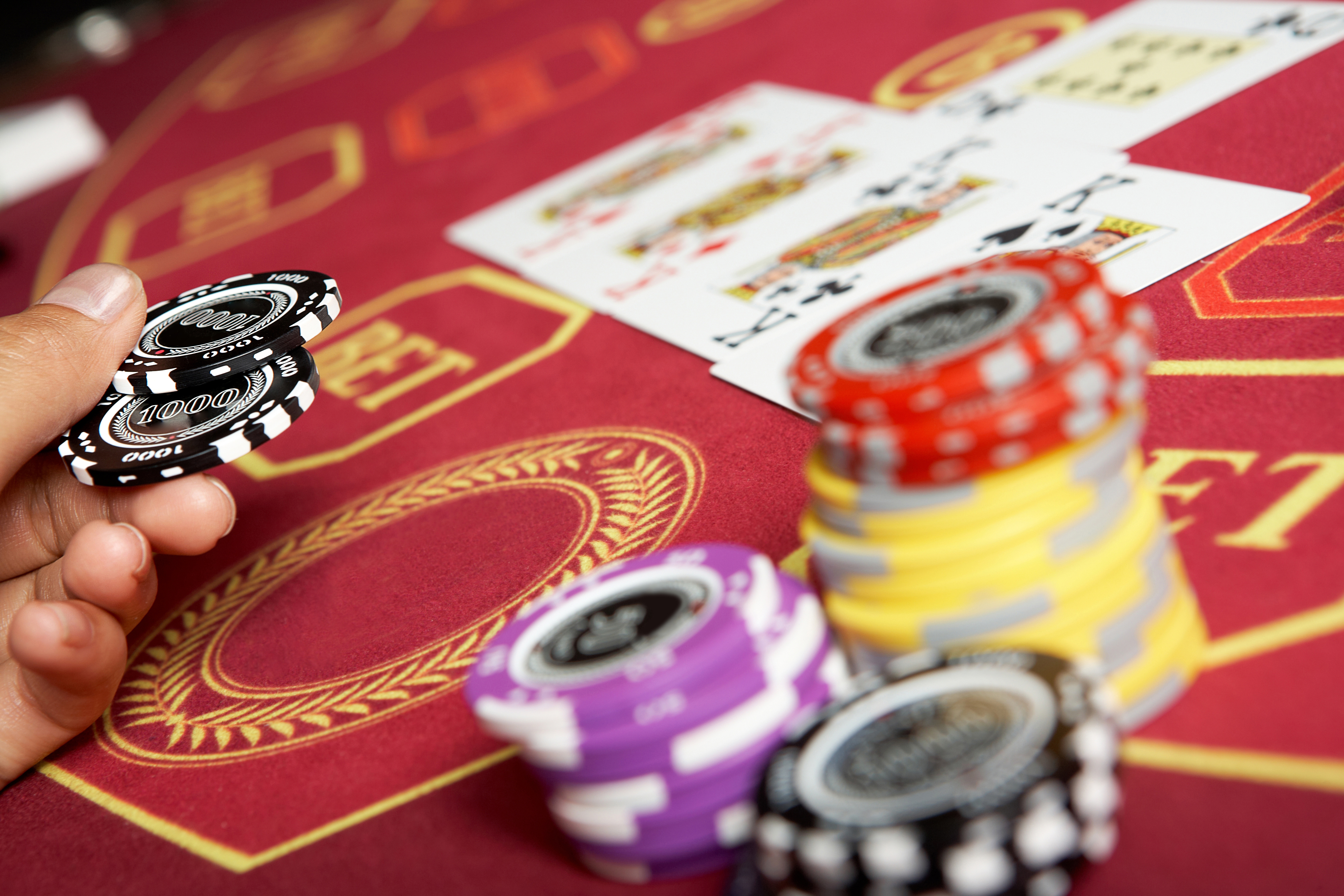 Action-In-Baccarat-Table